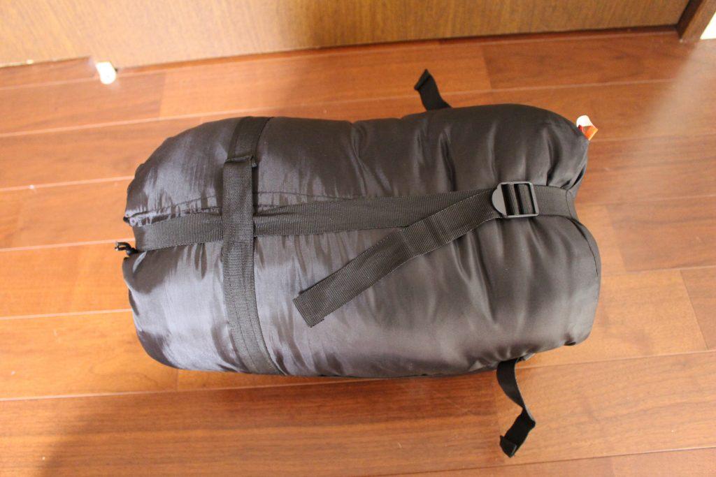 寝袋のコンプレッション機能