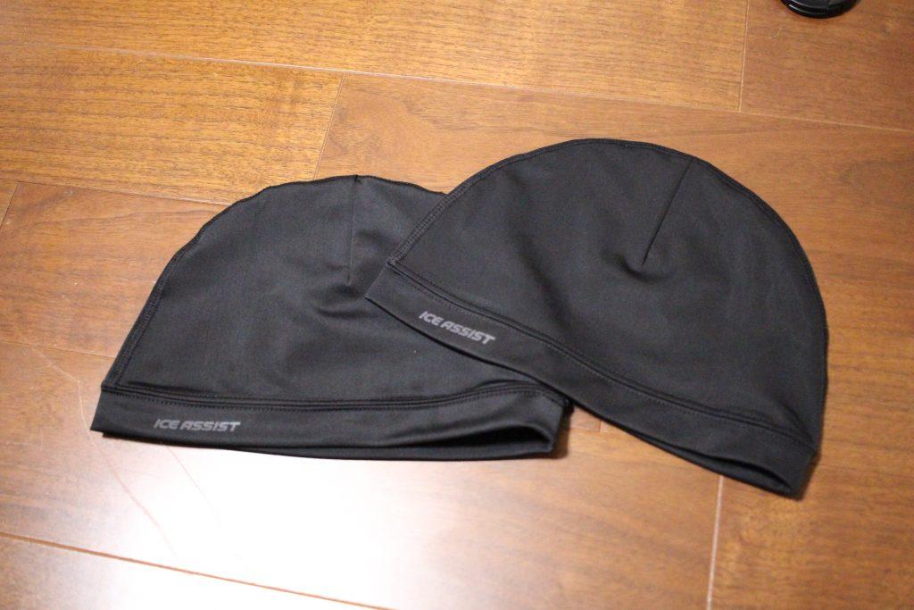 ニット帽とフローリング