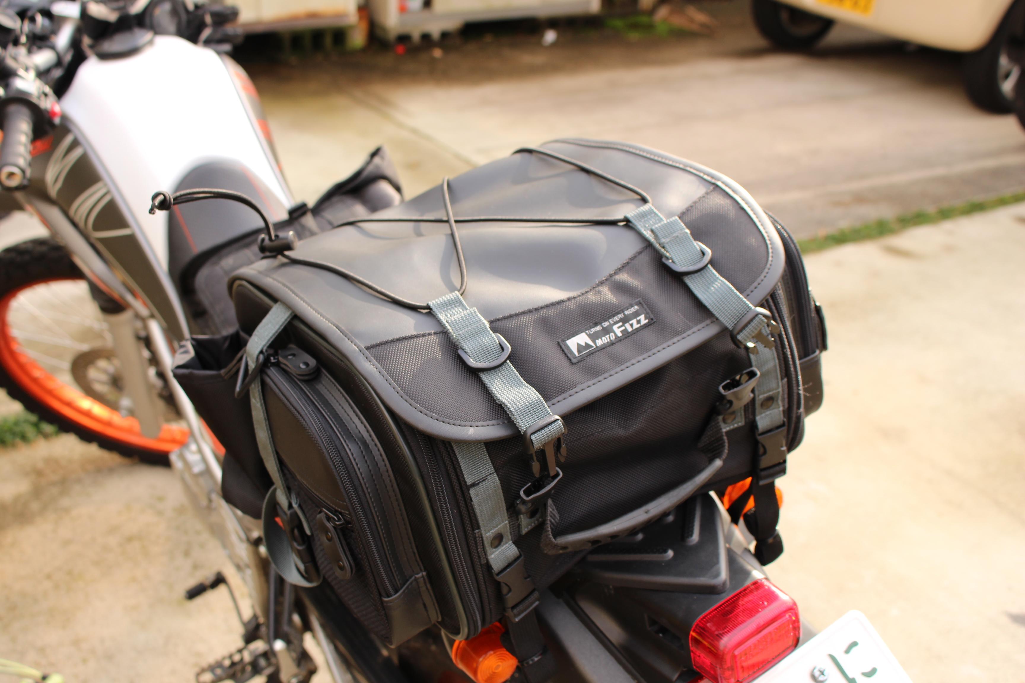ミニフィールドシートバッグとセロー250
