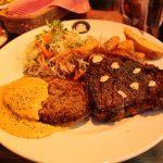 KTダイナーのハンバーグとステーキ